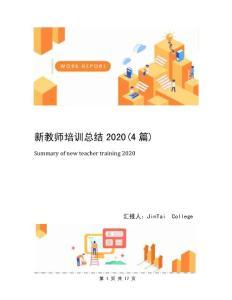 新教师培训总结2020(4篇)