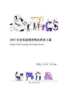 2021社会实践报告格式样本3篇