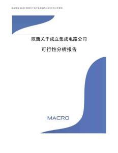 陜西關于成立集成電路公司可行性分析報告(范文)