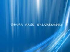 甘肃省2021年中考历史总复习第四部分世界古代史、近代史第十六单元步入近代、资本主义制度的初步确立课件