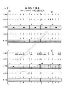 祝你生日快乐乐队总谱+钢琴版