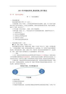2011年中级经济师_商业实务_预习笔记