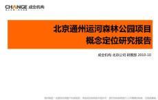 2010北京通州运河森林公园项目概念定位研究报告40P