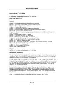 印度尼西亚民法典