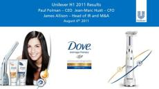 联合利华2011年第二季度盈利报告总结演示;Unilever 2011 Q2 full represetation
