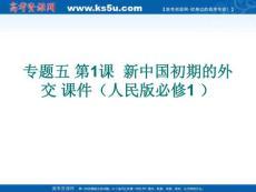 2012高考历史  新中国初期的外交