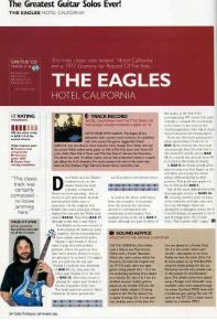 Eagles - Hotel California Solo