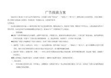[广告/传媒]广告投放方案2012