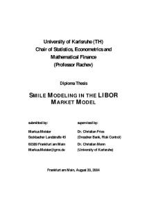 Smile Modeling in the LIBOR Market Model
