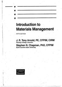 Introduction to Materials Management 5th ed 物料管理入門
