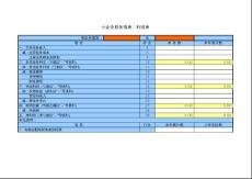 小企业财务报表模板-利润表
