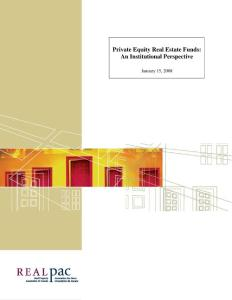 Real Estate Private Equity Funds (FINAL)