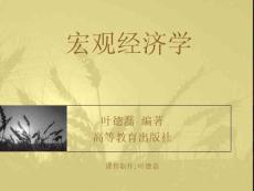 宏观经济学课件(叶德磊)