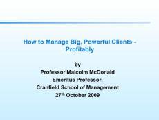 Key Account Management - global best practice