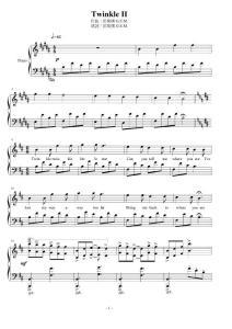 邓紫棋G.E.M.-Twinkle_II(歌詞 鋼琴譜)