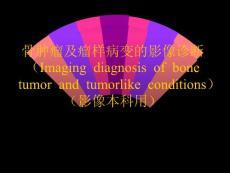 骨肿瘤及瘤样病变的影像诊断