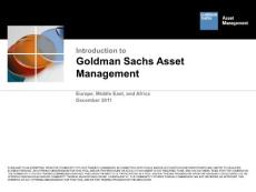 Introduction to Goldman Sachs Asset Management