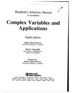 Complex+Variables+and+Applications+8th+Ed +Solutions+Manual