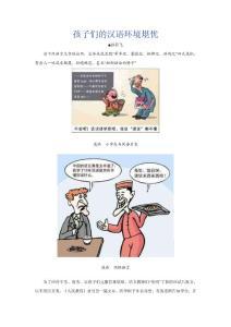 孩子们的汉语环境堪忧