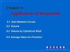 高等数学英文版课件PPT 06 Applications of Integration