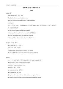 英语:选修11 Units1-5词汇精讲(人教新课标)