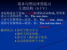 高中英語基本句型漢譯英練習