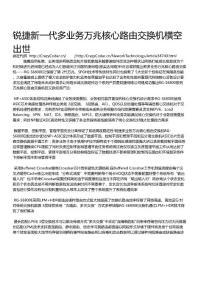 锐捷新一代多业务万兆核心..