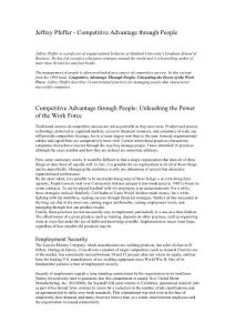 Pfeffer - Competitive Advantage through People - 2001