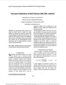 Two-port Calibration of test fixtures with OSL method
