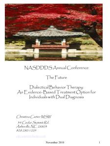 Dialectical Behavior Therapy (DBT) Foundation Training