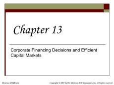 公司理财英文课件Chap013