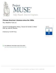 Chinese American Litera..