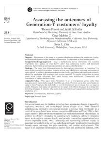 Assessing the outcomes g..