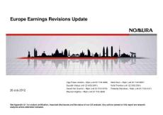 20120728-Nomura-Europe Earnings Revisions Update-120726