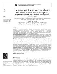 Generation Y and career..