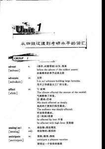 2010宫东风考研英语词汇复习指南