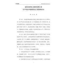 长源公司技改工程管理办法(2009年修改)1