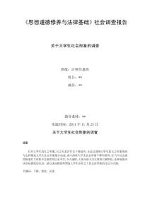 关于大学生社会形象的调查报告.doc