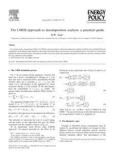 The LMDI approach to decomposition analysis-a practical guide