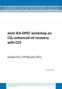利用碳捕获与封存技术提高石油采收率-Joint IEA‐OPEC workshop on CO2‐enhanced oil recovery with CCS