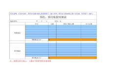 预收、预付账款明细表