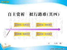 11-12版高中语文全程学习方略配套课件:《拟行路难(其四)》(新人教版·中国古代诗歌散文欣赏)