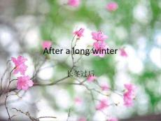 After a long winter六级精..