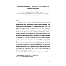Determination of vitamin C in tropical fruits a comparative