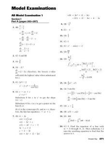 AP 微积分模拟题(零)(一)答案 form 不孤鸟