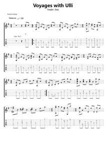 指弹吉他乐谱