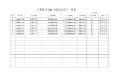 正泰集团3C安全认证证书一览表
