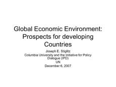 Global Economic Environment_ Prospects for developing Countries