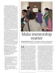 [2012][Nature.]Education Make mentorship matter