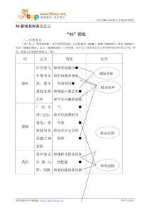 【经营企划】5S管理系列讲义之三--5S活动  Word 文档